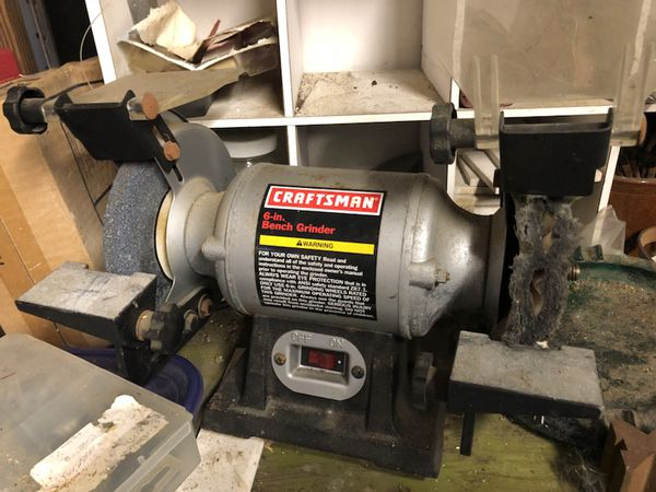 Fabulous Craftsman Bench Grinder 6 Inch For Sale In Houston Tx Offerup Creativecarmelina Interior Chair Design Creativecarmelinacom