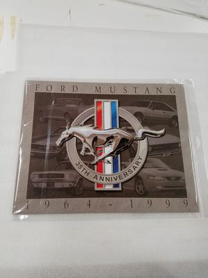 Photo Ford mustang muscle car 35th anniversary metal sign