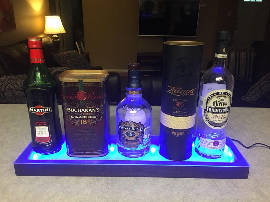 Iluminated bottle displays