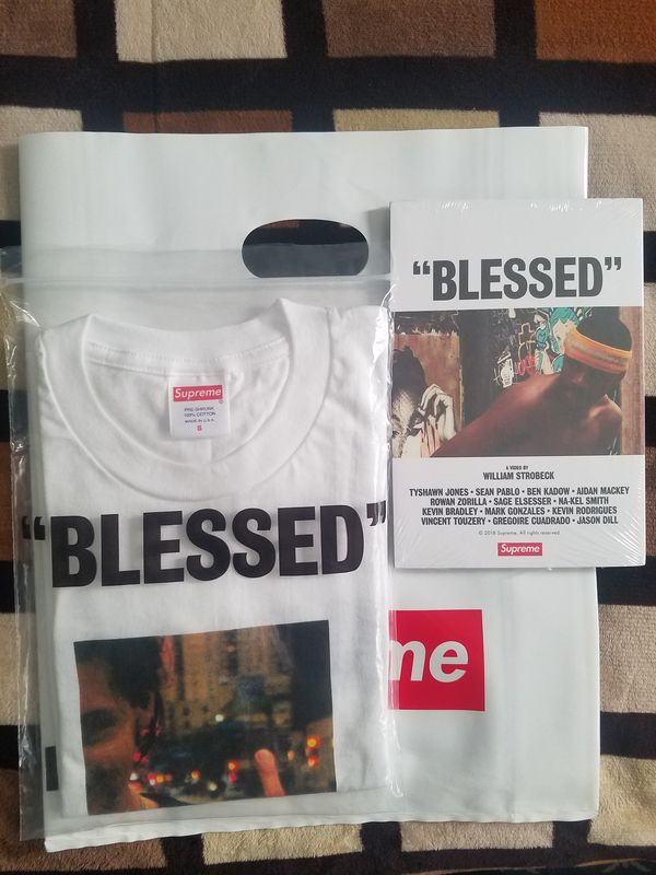 """f71915a55f5a Supreme """"Blessed"""" Full Bundle (DVD + TEE) White Small for Sale in ..."""