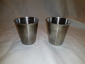 VINTAGE Vollrath 68470 Stainless steel 7oz tumbler/solution cup Thumbnail