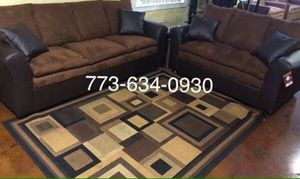 Brown sofa and Loveseat couches!!Brand new free delivery for Sale in Chicago, IL