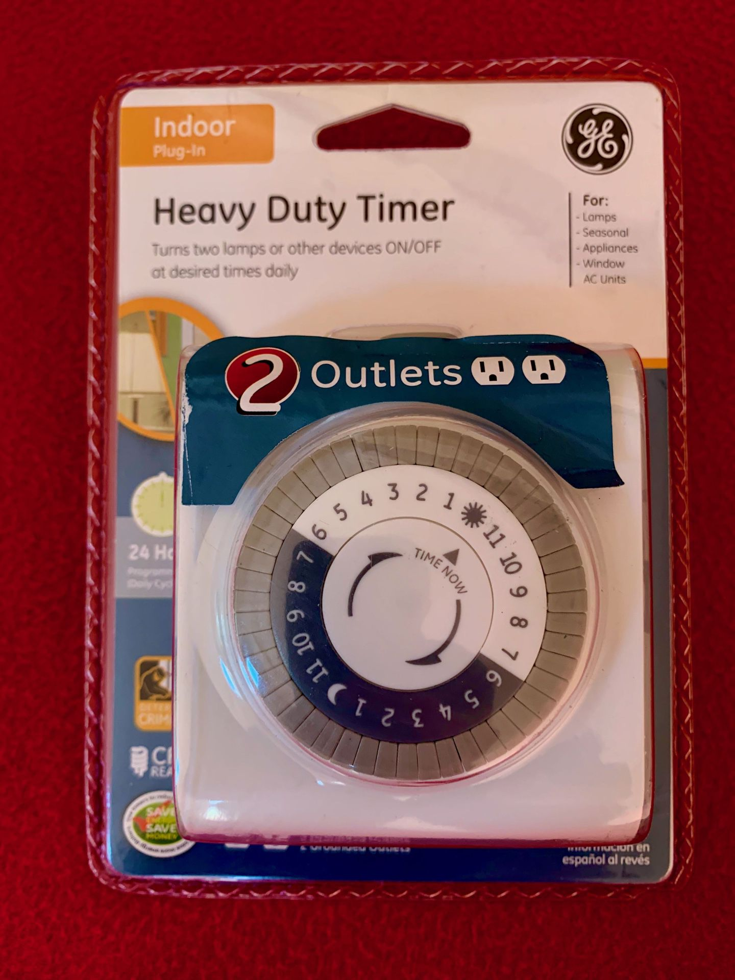 Two brand new GE heavy duty timers; each control 2 appliances