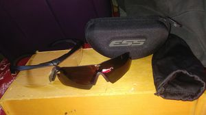 New ESS Tactical Saftey and glare resistant glasses w hard case and soft satcial case for Sale in West Valley City, UT