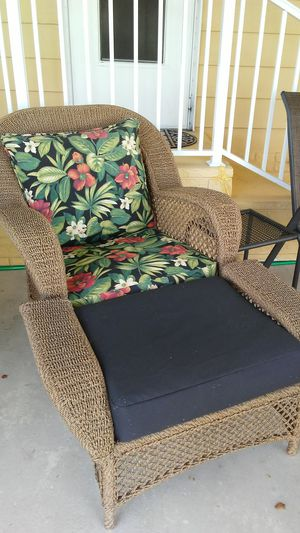 Patio chair and ottoman for Sale in Margate, FL