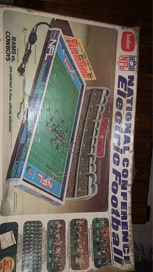 Photo VINTAGE NFL TUDOR ELECTRIC FOOTBALL SUPER BOWL GAME 1978 COWBOYS vs. RAMS
