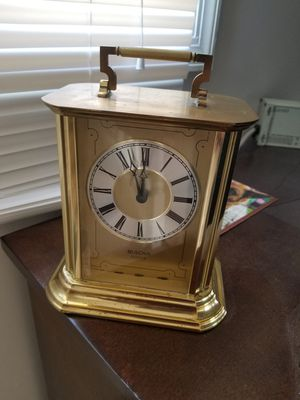 Bulova Brass Antique Analog Clock for Sale in Martinsburg, WV