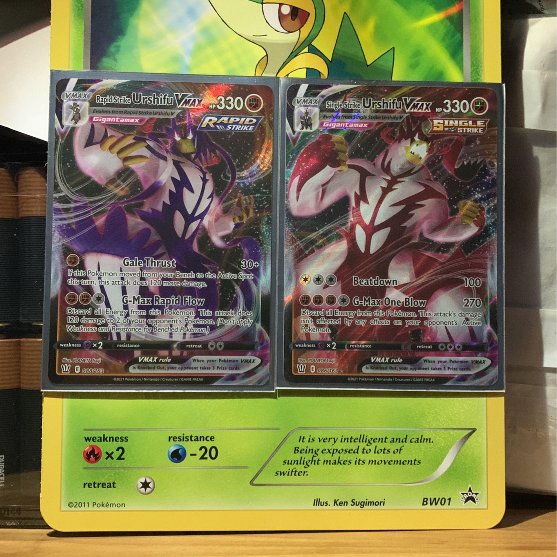 Urshifu Vmax Pokemon Cards