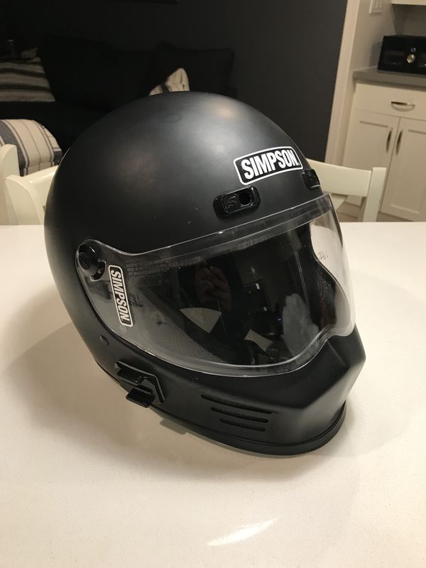 ef042147 Simpson street bandit XL DOT AND SNELL motorcycle / car helmet for ...