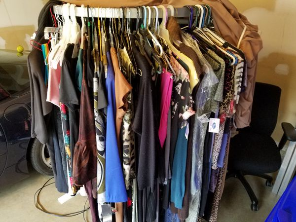 d360d59b9 Rack of ladies clothing w/ clothes rack for Sale in Burtonsville, MD -  OfferUp