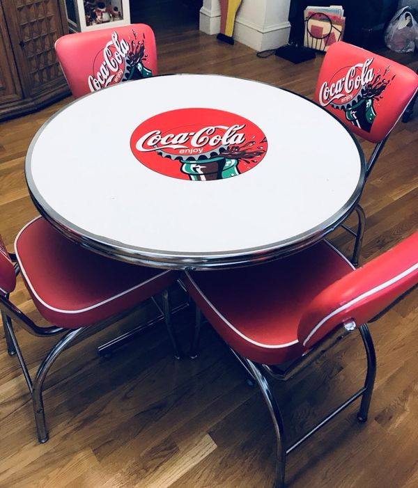 vintage coca cola 5 pc table chairs set for sale in somerville ma