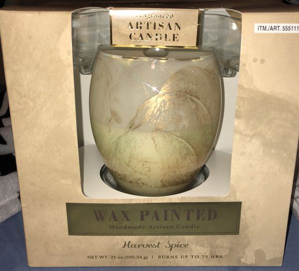 """Artisan candle wax painted harvest spice """"obo"""" need to go for Sale in Coral  Springs, FL - OfferUp"""