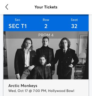 Arctic Monkeys at the Hollywood Bowl Today Wednesday 10/17/18 for Sale in Lawndale, CA