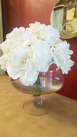Flower silk base heavy for sale in webster groves mo offerup white silk flowers glass base from home goods for sale in st louis mightylinksfo