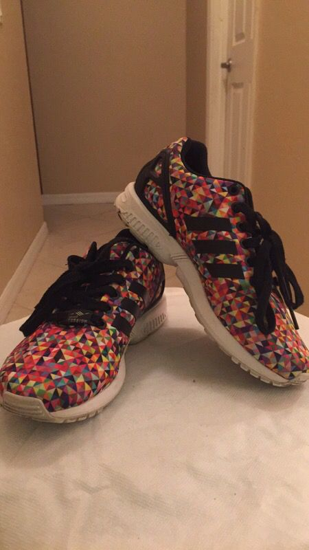02f36da8a085c Adidas zx flux multicolor size 5Y for Sale in Port St. Lucie