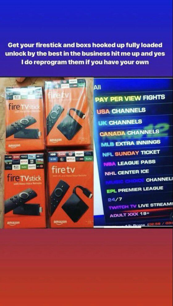 Jailbroken Fully Loaded Amazon Fire TV Stick for Sale in Las Vegas, NV -  OfferUp
