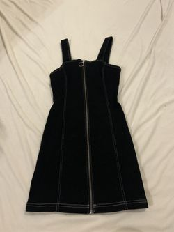 Zip Up Denim Dress Thumbnail