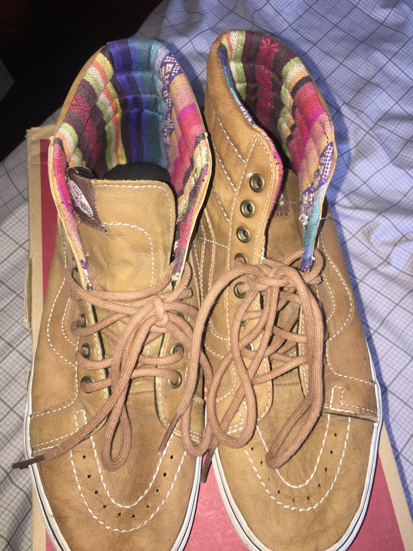 Vans Brown Leather Sk8-Hi