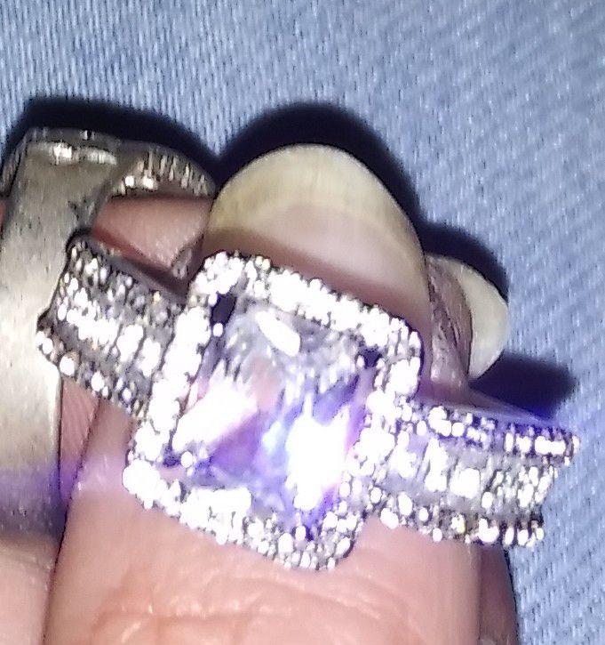 3 silver rings
