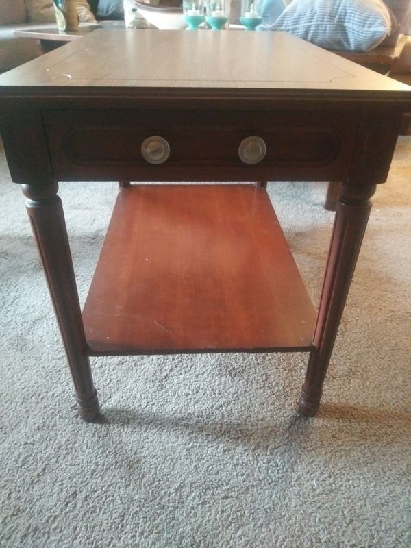 Cute Wooden End Table