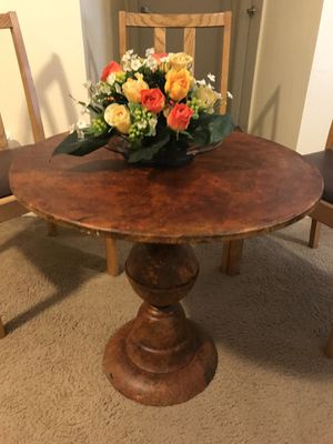 "25"" round metal table for home or patio brand new interested pm me pick up in Gaithersburg md 20877 for Sale in Gaithersburg, MD"