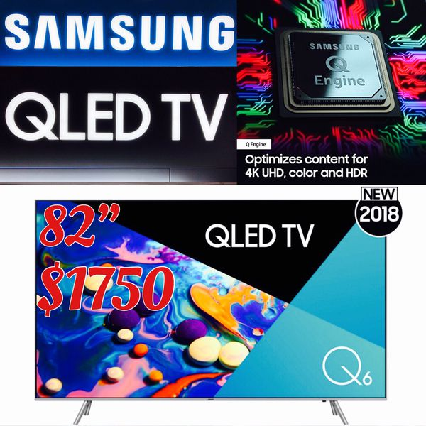 Samsung 82 inch 4K QLED TV Qn82q6fn brand new sealed for Sale in Calabasas,  CA - OfferUp
