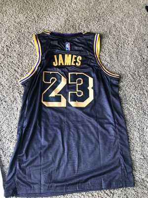 cbef8a921ee Brand new NBA Nike Lebron James Jersey XL Los Angeles Lakers City edition  black for Sale
