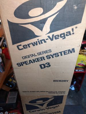 Vintage Cerwin Vega D3 Speakers in box for Sale in Poughkeepsie, NY -  OfferUp