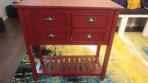Kirklands Red 4 Drawer Console table for Sale in Clayton, NC