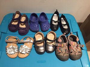 6 pairs size 5 toddler shoes for Sale in Germantown, MD