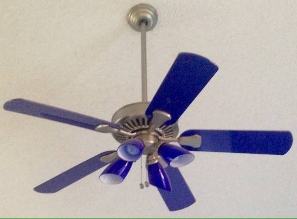Neon blue hampton bay ceiling fan for sale in sacramento ca offerup open in the appcontinue to the mobile website aloadofball Choice Image