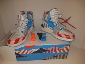 Nike off white Parra Customs Size 10US for Sale in Chevy Chase, MD