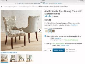 Tremendous Pier One Upholstered Chair For Sale In Lantana Fl Offerup Home Interior And Landscaping Synyenasavecom