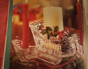 Princess House Sleigh Candlesticks and Centerpiece Set for Sale in Dillwyn, VA