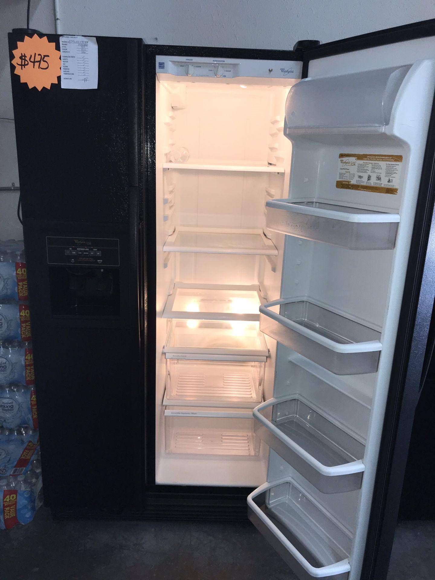 Black Whirlpool Refrigerator Side By Side