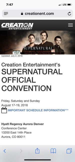 SUPERNATURAL Gold Admission Ticket and Jensen Ackles Photo Op Ticket for Sale in Denver, CO