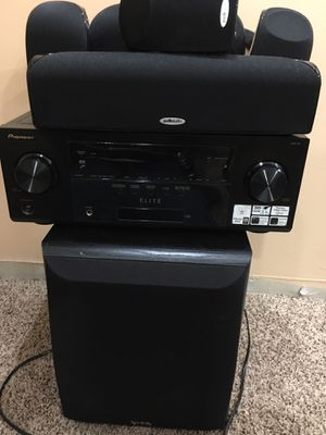 Pioneer VSX-60 Powered Subwoofer and 6 satellite speakers for Sale in Potomac, MD
