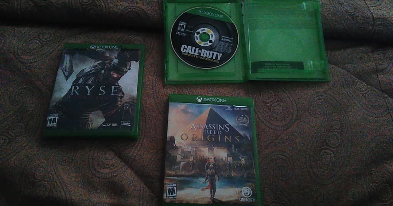 3 Xbox one games, $15 each or all 3 for $35