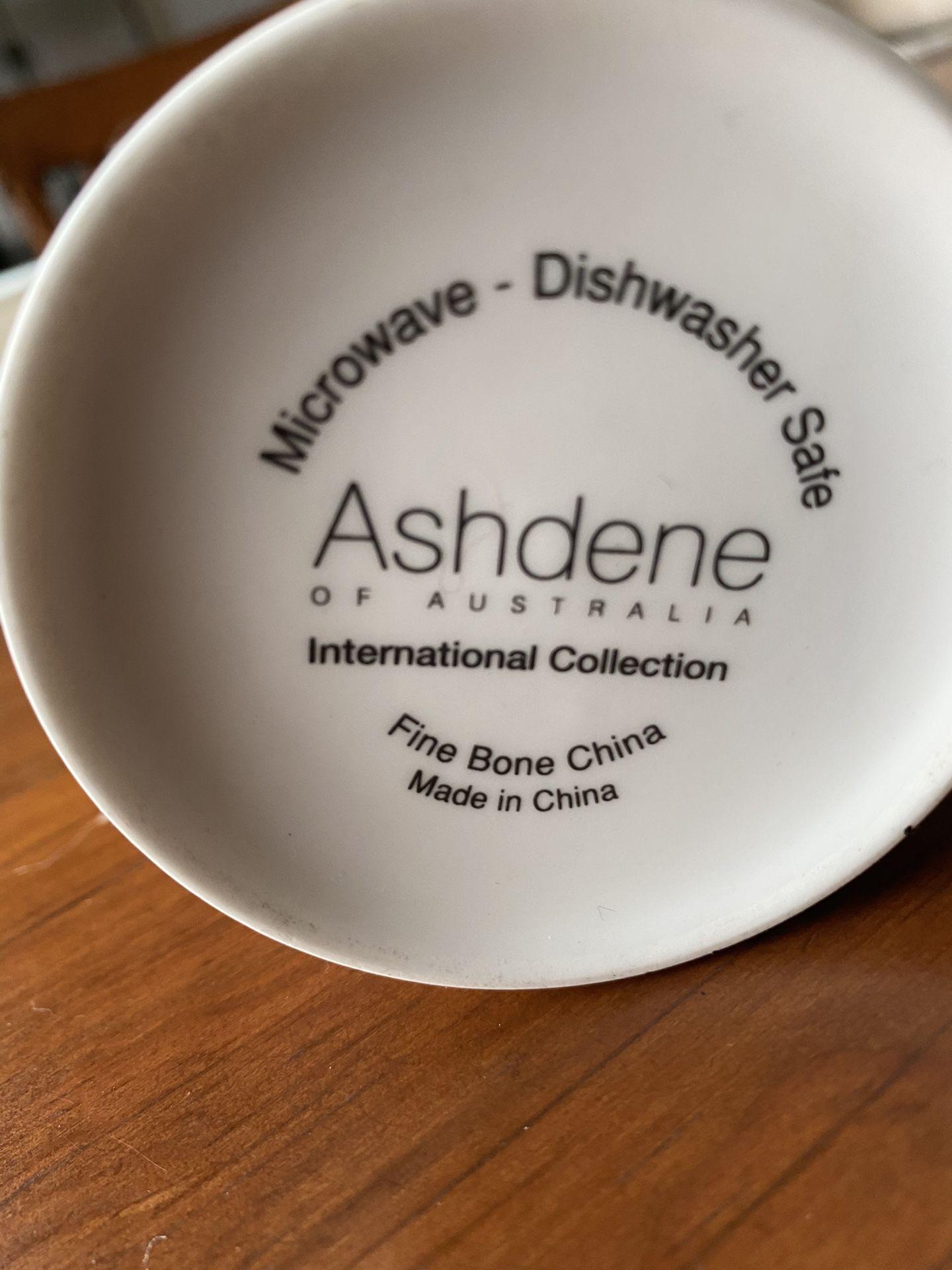 Ashdene of Australia Bone China mug Yellow floral Iris / Rose