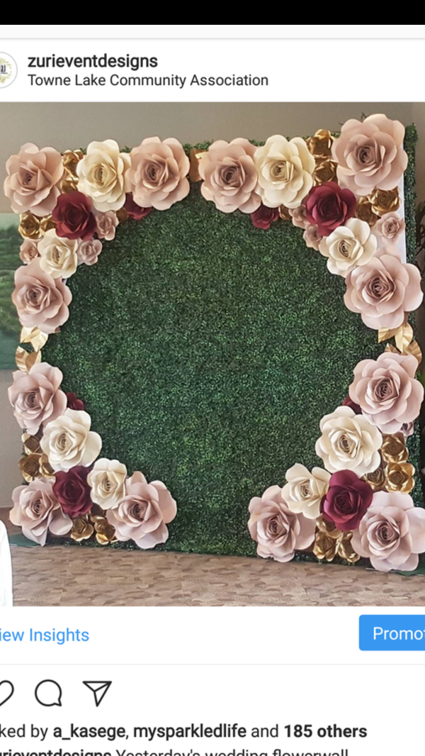 Artificial Green Hedge Wall Boxwood Backdrop Paper Flowers For