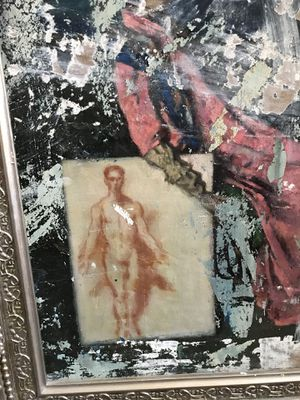 Vintage oil painting of Figural persons for Sale in Miami, FL