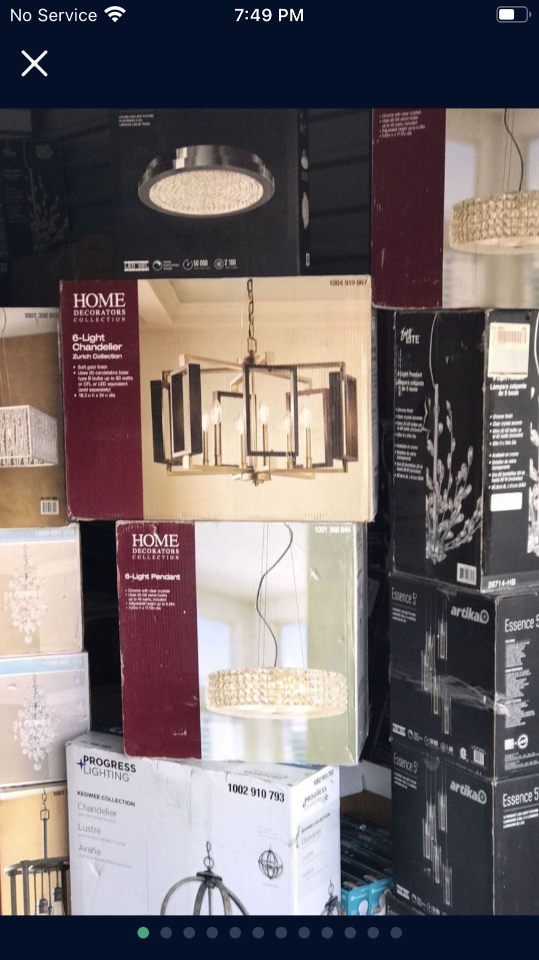 """72"""" Size Ceiling Fans Led With Remote Control Asking $215each"""