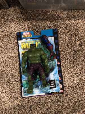 Hulk action figure, with comic for Sale in Sterling, VA