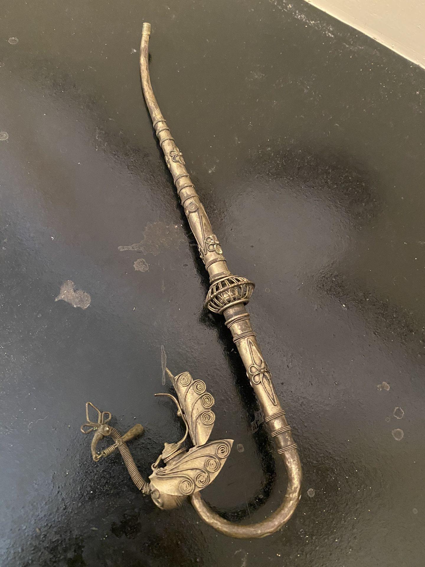 Antique opium pipe