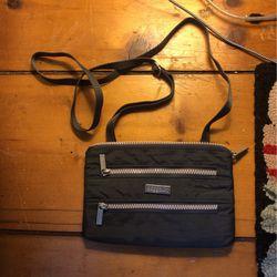 Gray Baggallini 3 zipper small crossbody bag Thumbnail