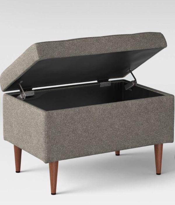 Fine Lemoor Mid Century Ottoman With Storage Project 62 For Sale Spiritservingveterans Wood Chair Design Ideas Spiritservingveteransorg