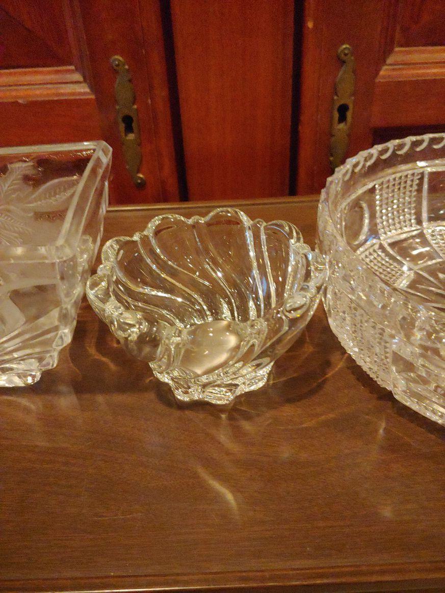 Home interior y otros lindas piezas de cristal todo a un precio