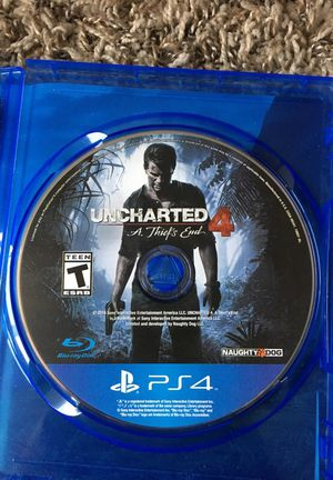 Ps4 Uncharted 4 A thief's End for Sale in Salt Lake City, UT