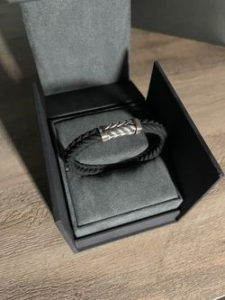 David Yurman Mens Chevron Rubber Bracelet  Thumbnail