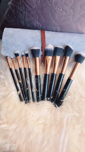 Marble Makeup Brushes set with Felt Bag for Sale in Silver Spring, MD
